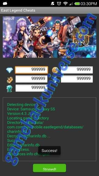 Working East Legend Cheats (Unlimited Diamond & Unlimited Gold)