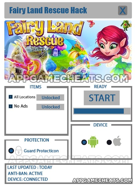 Fairy Land Rescue Hack for All Location & No Ads Unlock