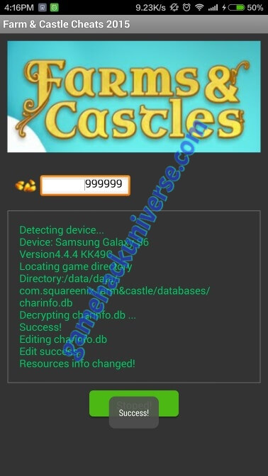 Farm & Castle Cheats & Hack  (Generate unlimited gold)