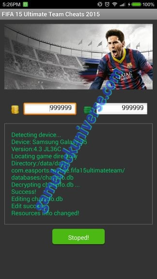 Fifa 15 Ultimate Team Cheats & Hack  (Unlimited Coins and Fifa Points)