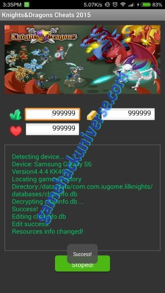 Working Knight & Dragons Cheats & Hack