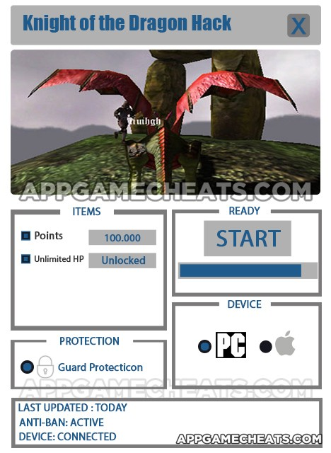 Knight of the Dragon Hack for Points & Unlimited HP Unlock