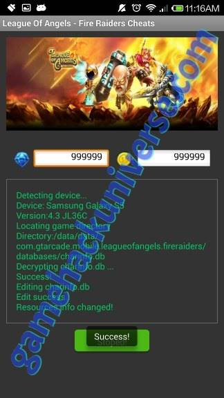 League of Angels Fire Raiders Cheats Hack Android iOS