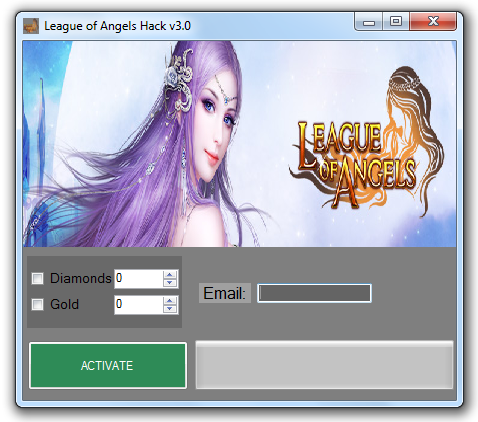 League of Angels (hack) Diamonds and Gold Cheats
