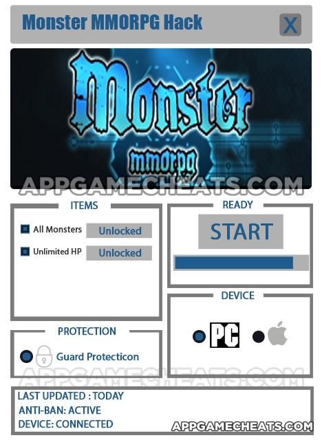 Monster MMORPG Hack for All Monsters & Unlimited HP Unlock
