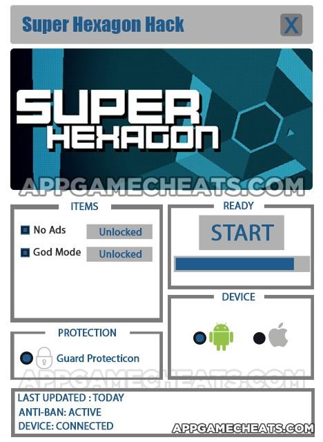 Super Hexagon Hack for No Ads & God Mode Unlock