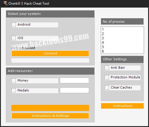 Overkill 3 Hack Tool