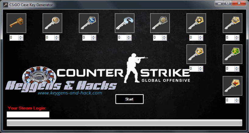 CS:GO Case Keys Generator