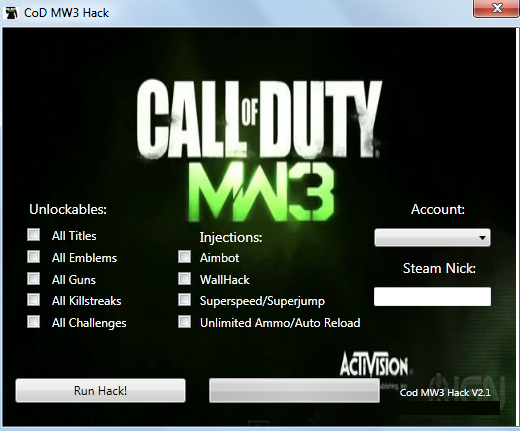 Modern Warfare 3 Hacks