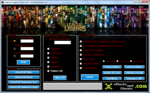 League of Legends MultiHack Tool Riot Points and Add Influence Points, Add Expirience Points Alliance Of Legends Multi Hack is another hack with a few components which different hacks don't have, this hack is extremely one of a kind because it has been produced for quite a while so we have added some incredible elements to utilize just for you and just from the group of legends multi hack which is released today and redesigned ordinary by our database.