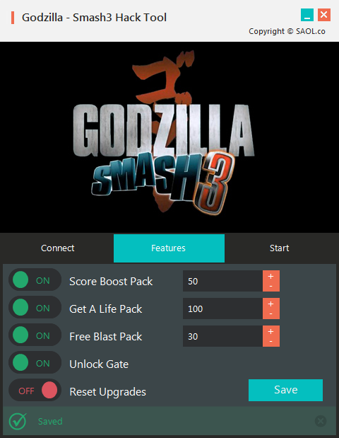 Godzilla Smash3 Hack Cheats Life Hack, Include Unlimited Score