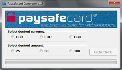 PaySafeCard Codes Generator