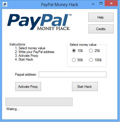 PayPal Hack Money Adder