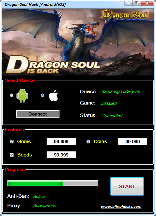 Dragon Soul Hack Android/iOS Gemstones Boundless Cash Boundless Seeds