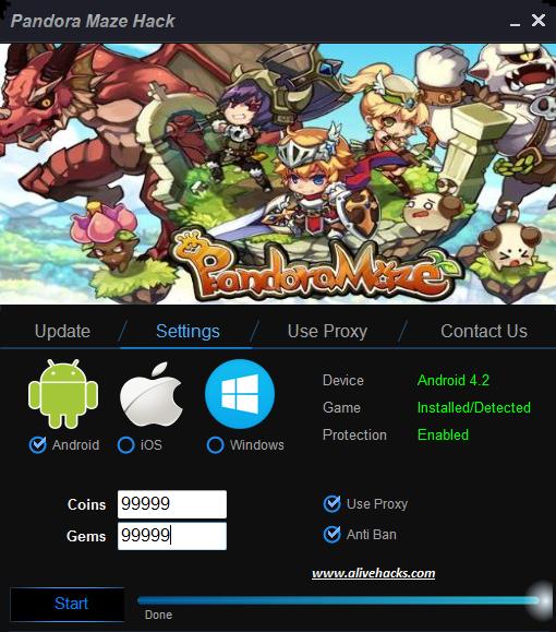 Pandora Maze Hack Android/iOS