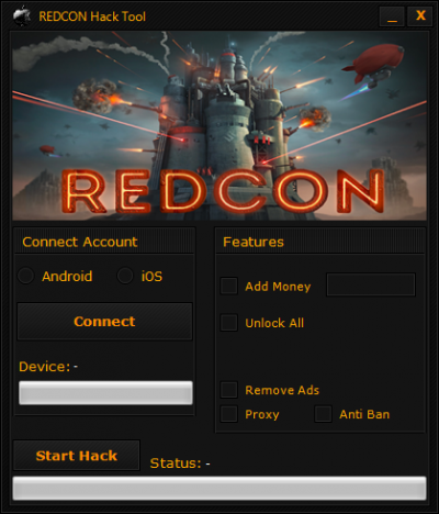 REDCON Hack Money Evacuate Ads Works with PC/OS X and Android/iOS