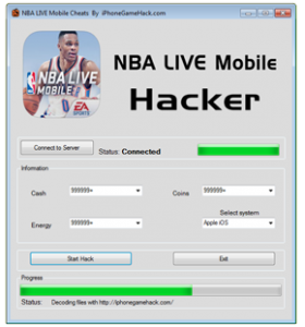 NBA LIVE Mobile Cheats Hack Cash Coins Cash Unlimited Coins Boundless Energy