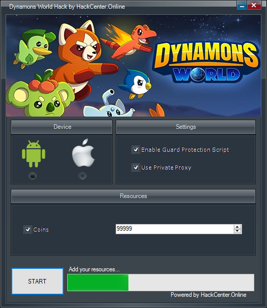 Dynamons World Hack Coins Generator