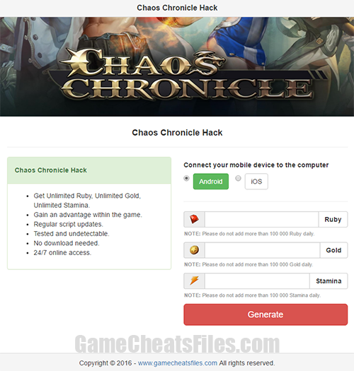Chaos Chronicle Cheats Hack