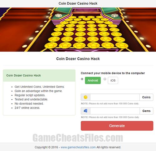 Coin Dozer Casino Cheats