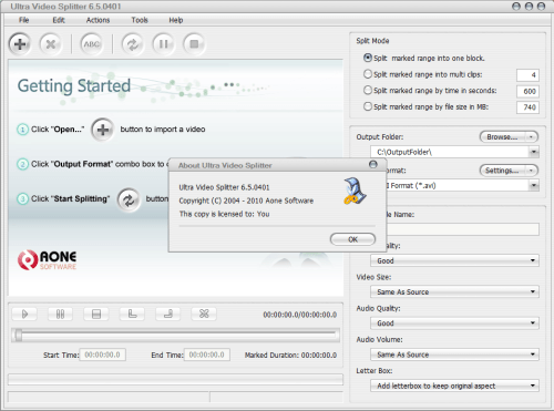 Ultra Video Splitter 6.5.0401 Full Keygen Crack