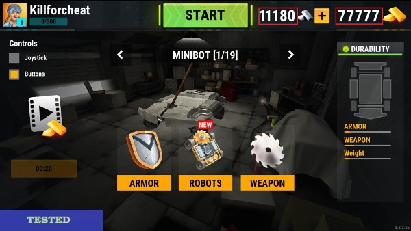 Robot Fighting 2 Minibots 3D Hack