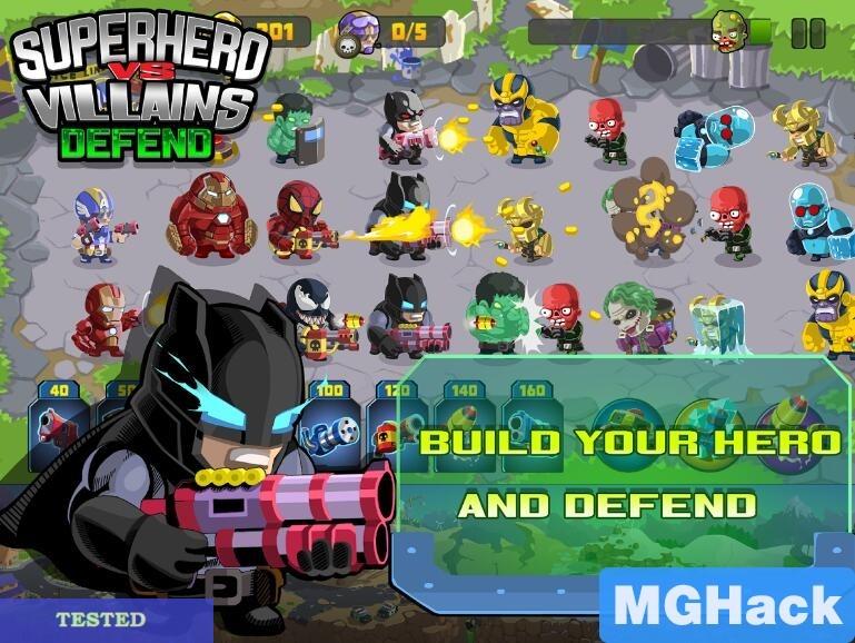 SuperHero VS Villains Defense 1.1 hack