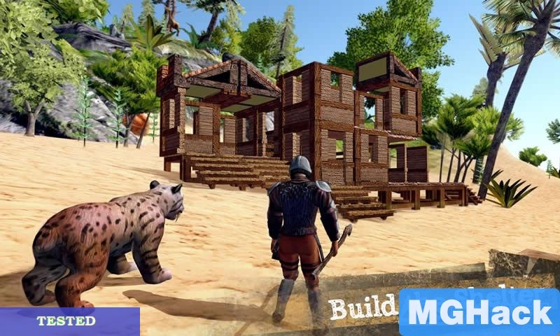 The Ark of Craft:Dinosaurs 1.4 hack data: Money hack Utilize block, metal, stone or wood to make any developments!