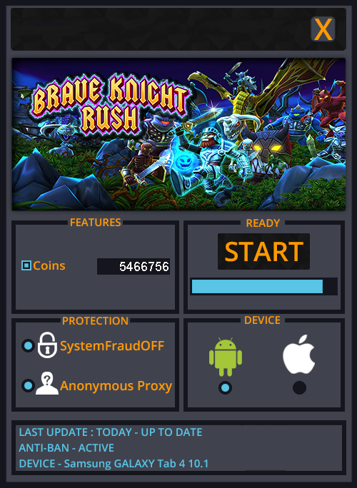Brave Knight Rush Hack Cheats Tool Latest