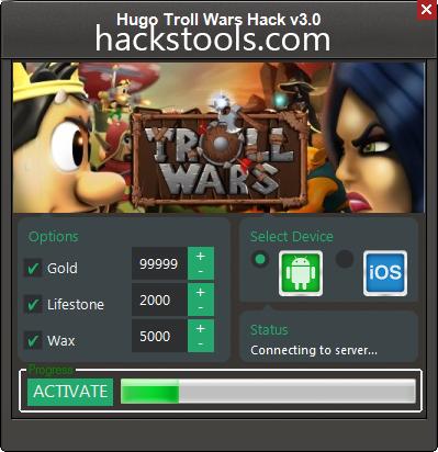 Hugo Troll Wars Hack Cheats Tool Updated Version
