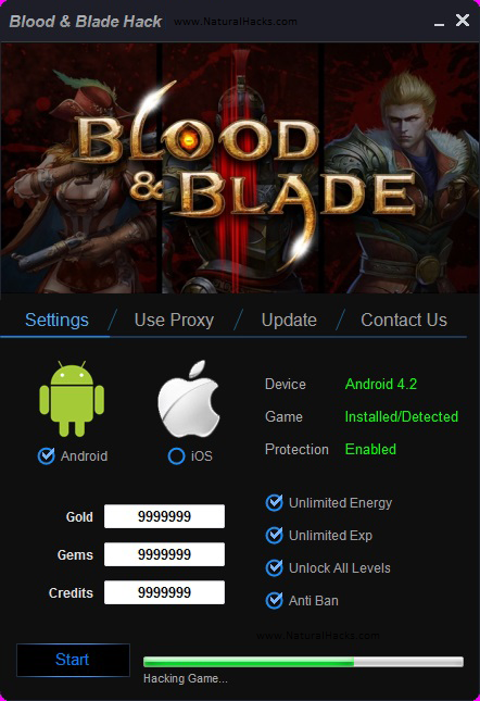 Blood and Blade Hack Tool