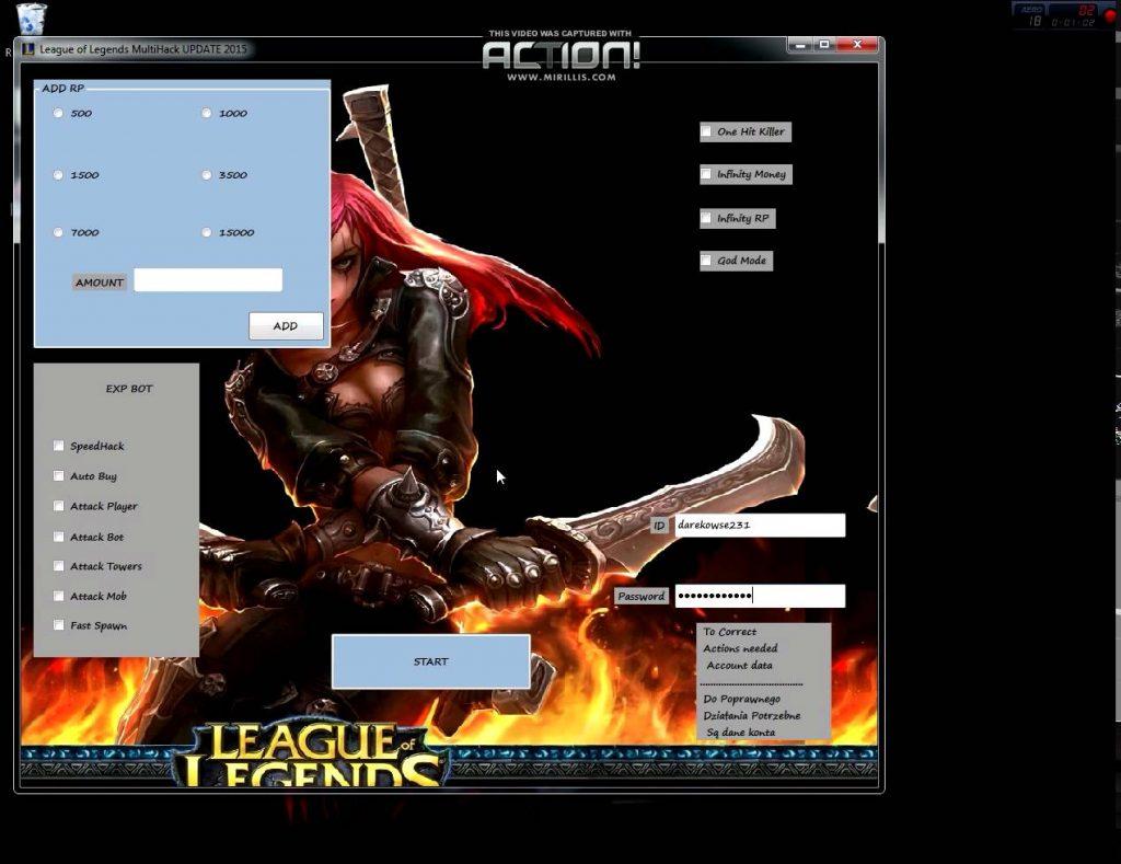 League Of Legends Multi Hack
