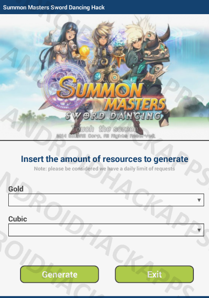 Summon Masters Sword Dancing Hack APK Gold and Cubic