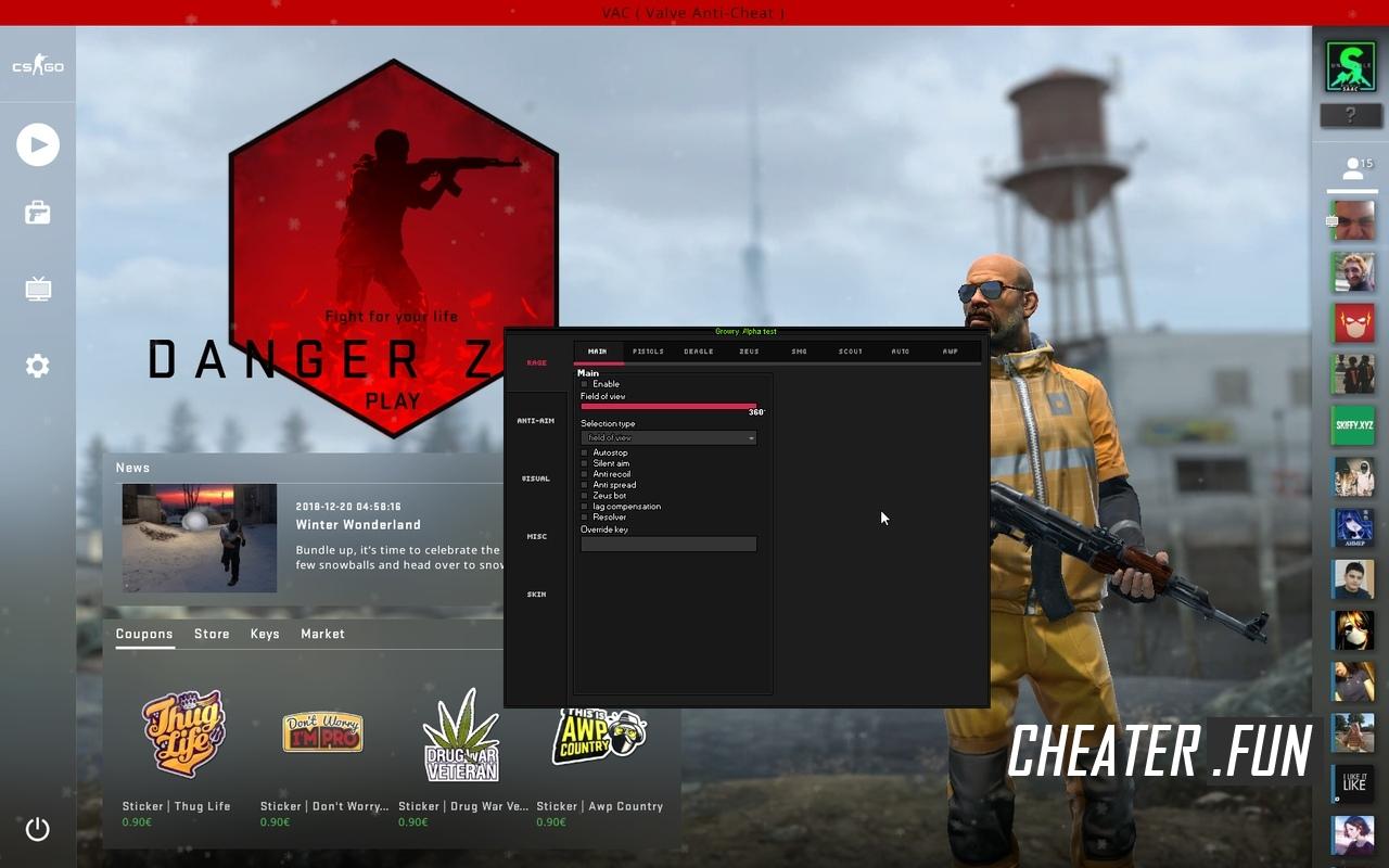 Counter-Strike Global Offensive Growry HVH + LOADER