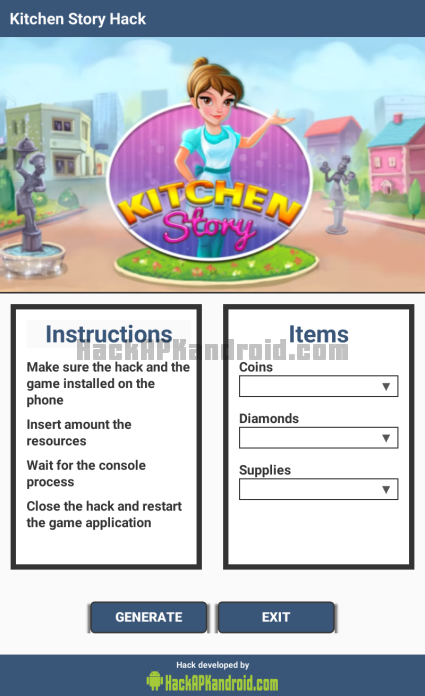 Kitchen Story Hack Cheats Tool