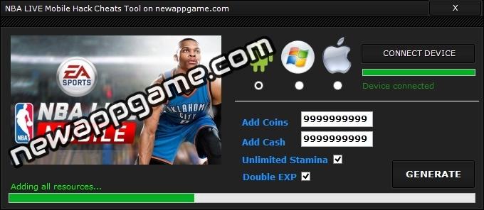NBA LIVE Mobile Hack2