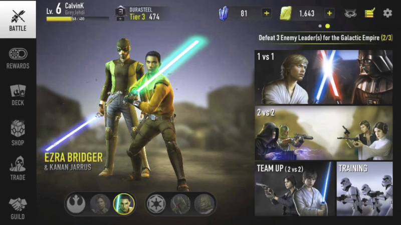Star Wars Force Arena Hacks, Bots and Cheats