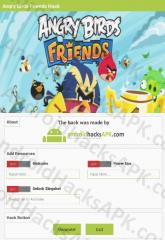 Angry Birds Friends Hack APK Birdcoins, Power Ups and Unlock Slingshot