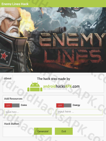 Enemy Lines Hack APK Coins and Energy