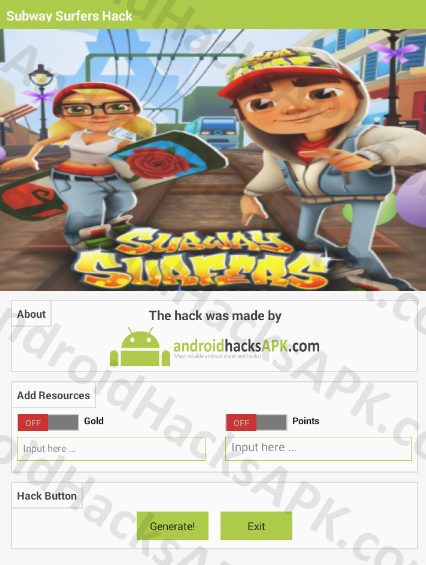 Subway Surfers Hack APK Gold and Points
