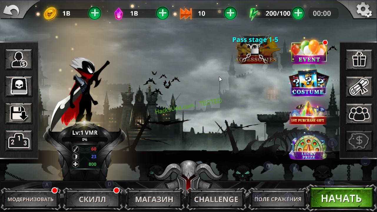 MOD Stickman Legends - Ninja Warriors: Shadow War Unlimited Money Ver. 2.3.14