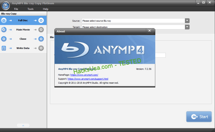 AnyMP4 Blu-ray Copy Platinum Serial