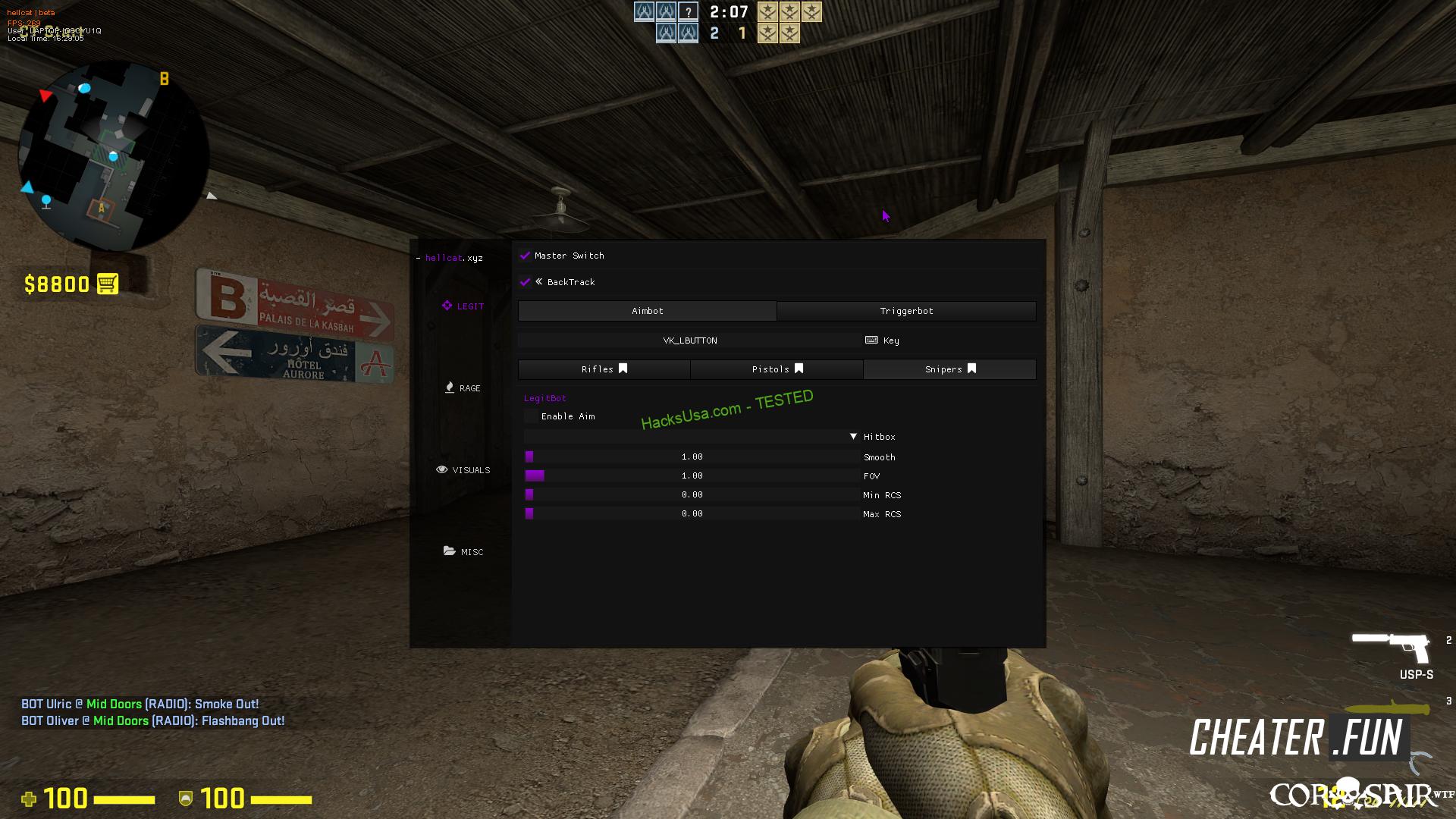 Counter-Strike: GO hellcat.xyz - Rage/Legit