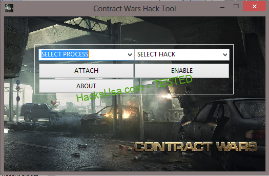 Contract Wars Super Hack Trainer, Activate the hacks you want in game