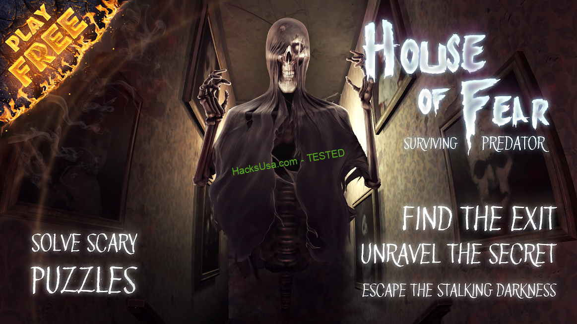 House of Fear: Surviving Predator : VIP Mod ads and get for this a lot of gold coins and love APK