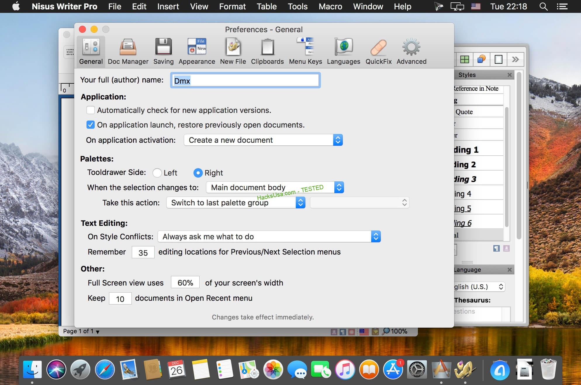 Nisus Writer Pro 3.0.4 MAC 2