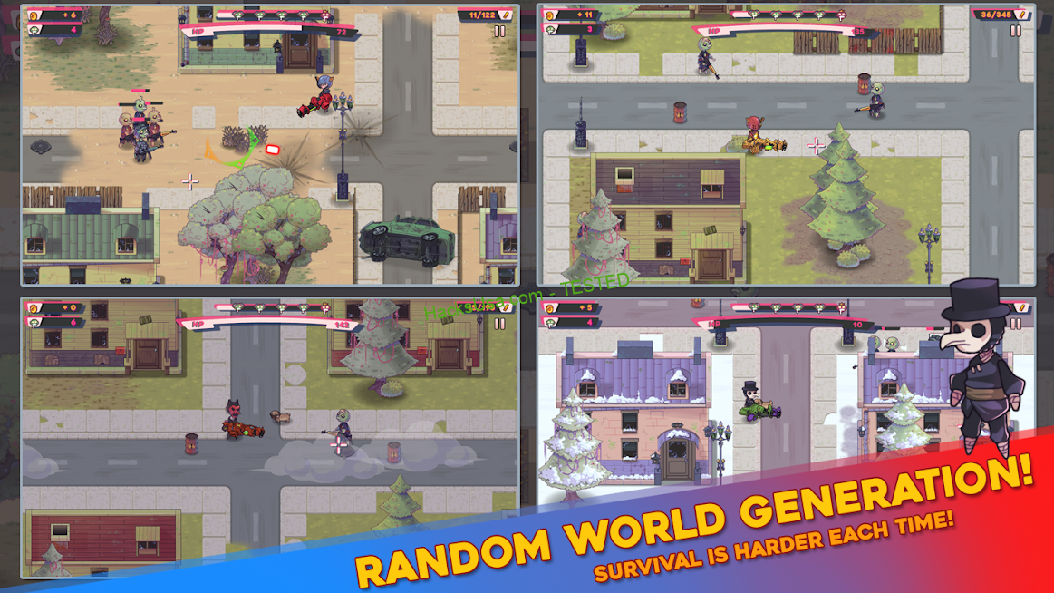 Pew Paw – Zombie survival : VIP Mod unlimited gold coins and a large number of boxes APK