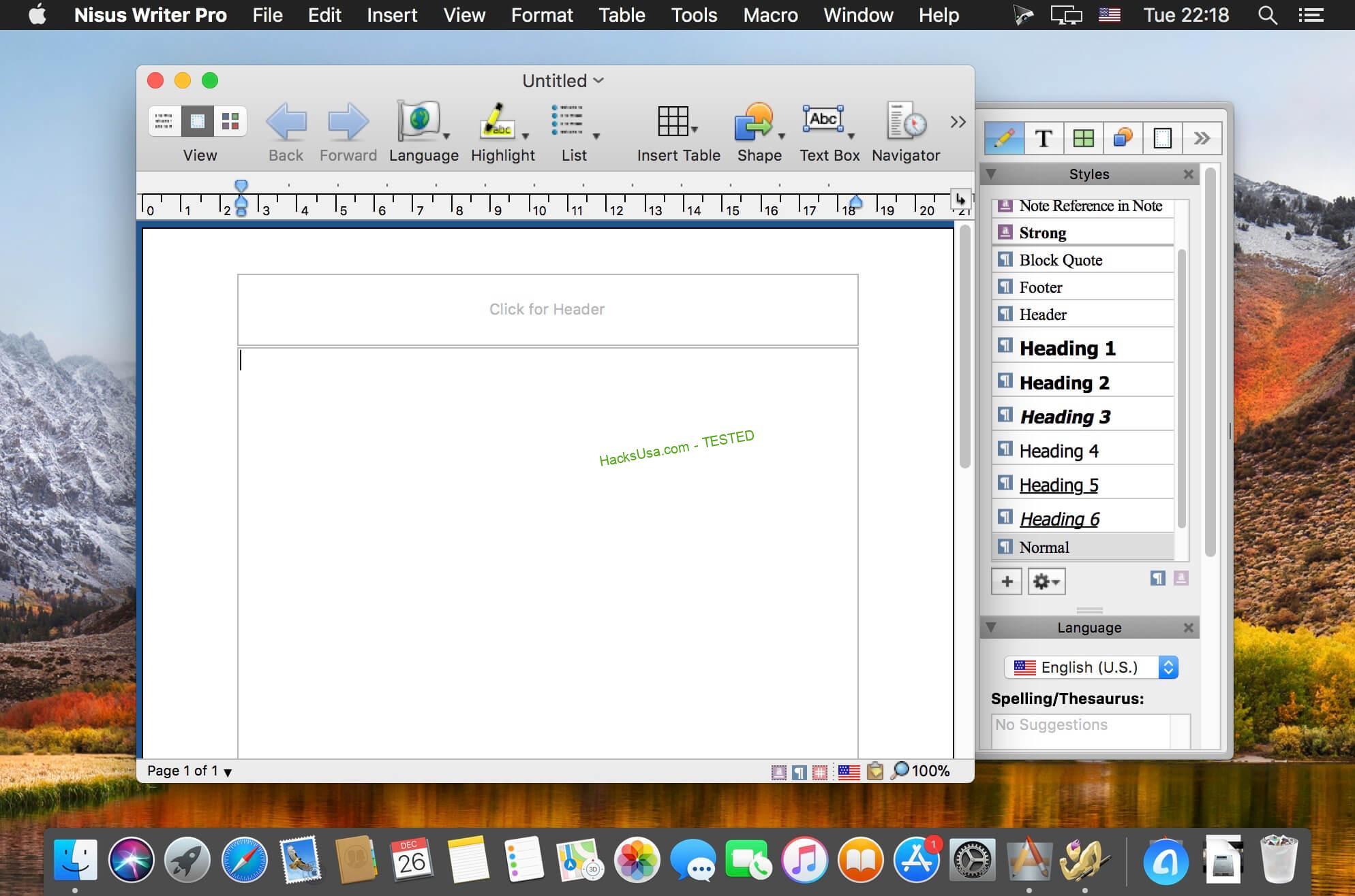 Nisus Writer Pro 3.0.4 MAC