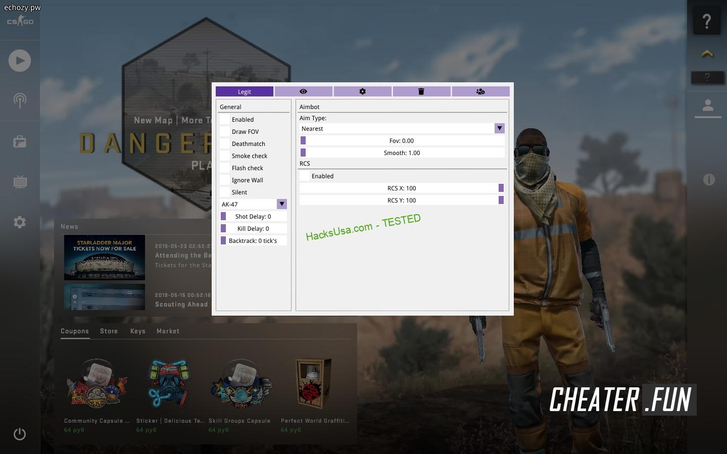 Counter-Strike: GO Echozy.pw (ex Xyron) free legit cheat