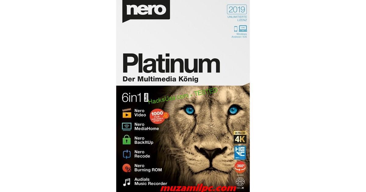 Nero Platinum 1.13.0.1 Crack 2019 + Serial Key Full Version {Updated}